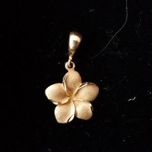 Jewelry Gold Plumeria Flower Pendant Poshmark